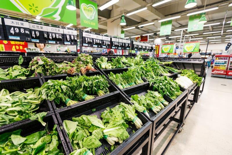 Van de hangzhou wal-markt van China de supermarkt kleinhandelsgoederen royalty-vrije stock fotografie