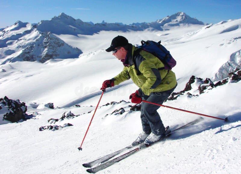 Van de hellingen van Elbrus stock fotografie
