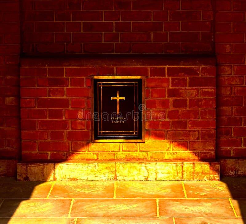 Van de het achtergrond berichtraad van het begraafplaatsregister foto stock foto