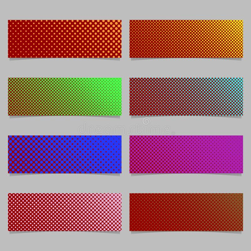Van de het achtergrond patroonbanner van de kleuren de abstracte halftone punt reeks van het malplaatjeontwerp royalty-vrije illustratie