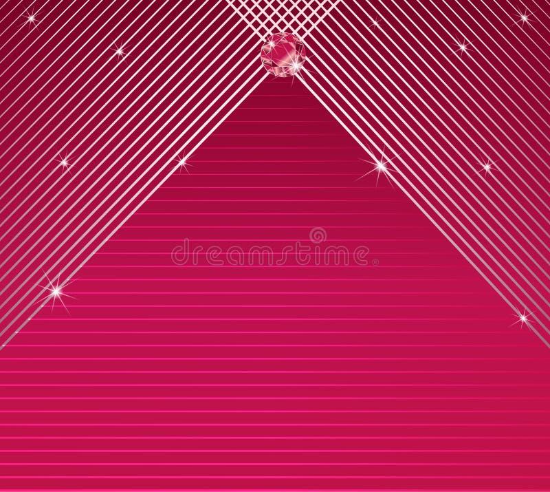 Van de van het achtergrond strepenpatroon de kaartvector elegante glamouruitnodiging stock illustratie