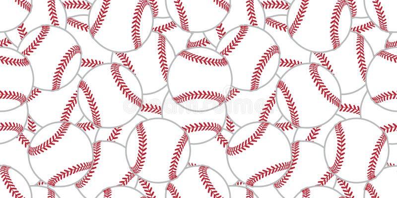 Van de het achtergrond tennisbal van het honkbal isoleerde de Naadloze patroon de tegel vectorbehangsjaal grafisch vector illustratie