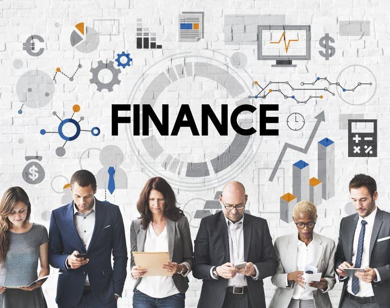 Van de het Bankwezeneconomie van de financiënboekhouding het Geldconcept stock afbeelding