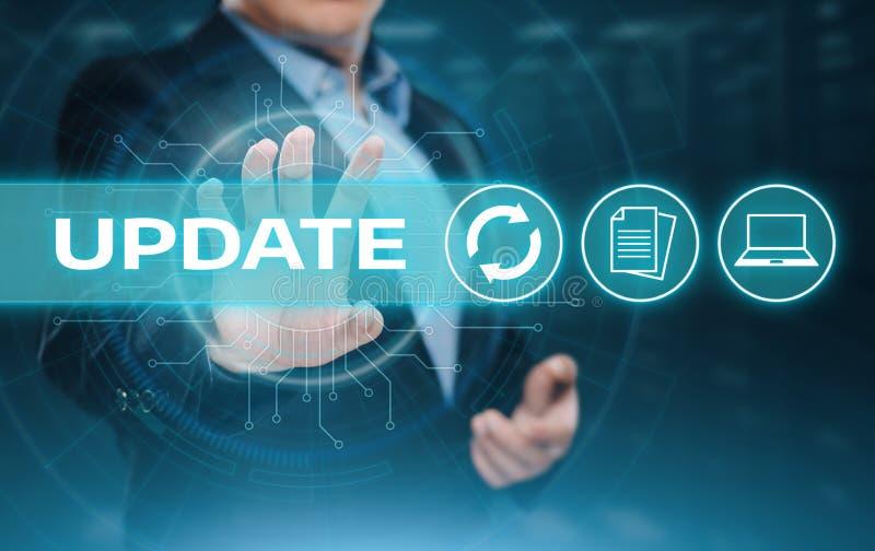 Van de het Bedrijfs computerprogrammaverbetering van de updatesoftware het Concept van technologieinternet royalty-vrije stock foto's
