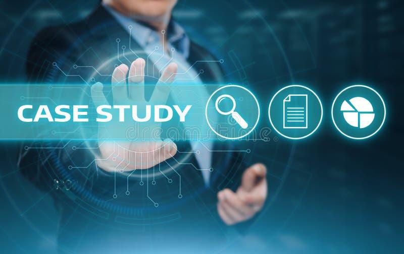 Van de het Bedrijfs onderwijsinformatie van de Gevallenanalysekennis Technologieconcept stock afbeeldingen