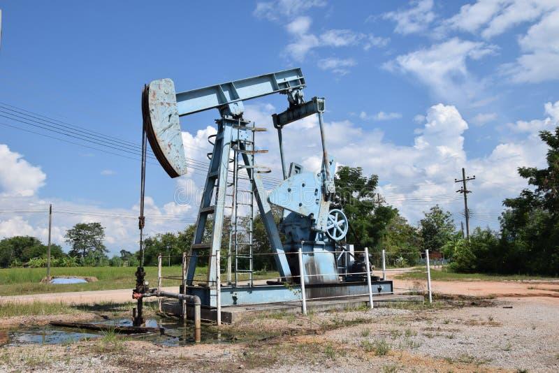 Van de het booreilandenergie van de oliepomp de industriële machine voor aardolie stock foto