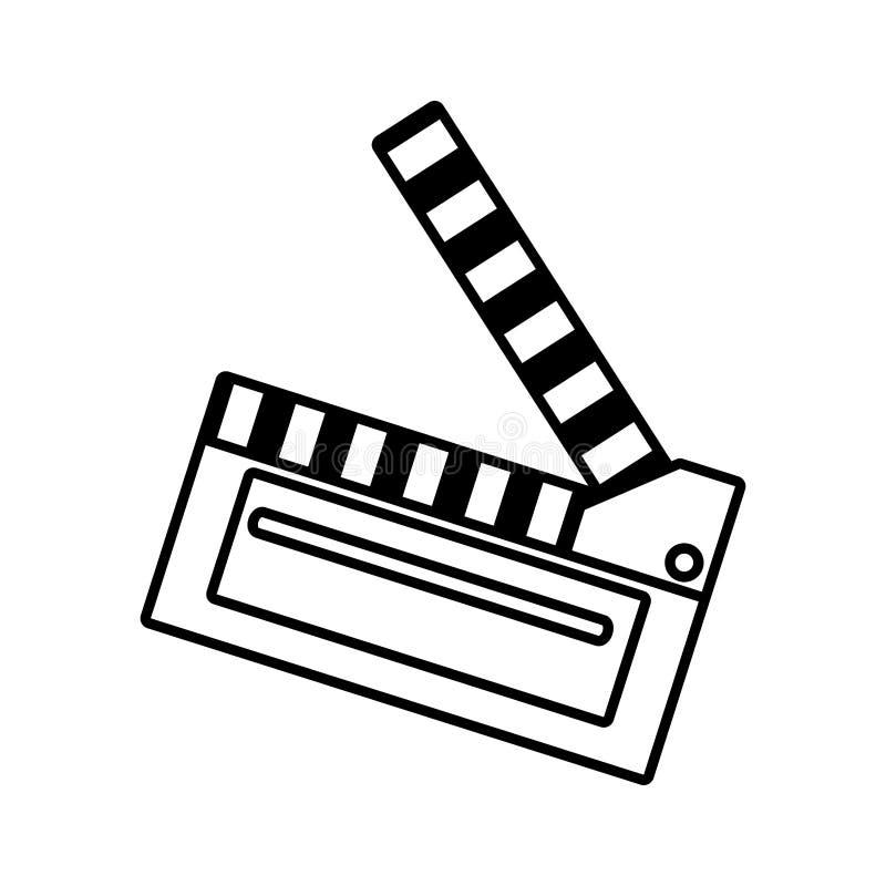 Van de het bordscène van de filmklep het pictogramoverzicht vector illustratie