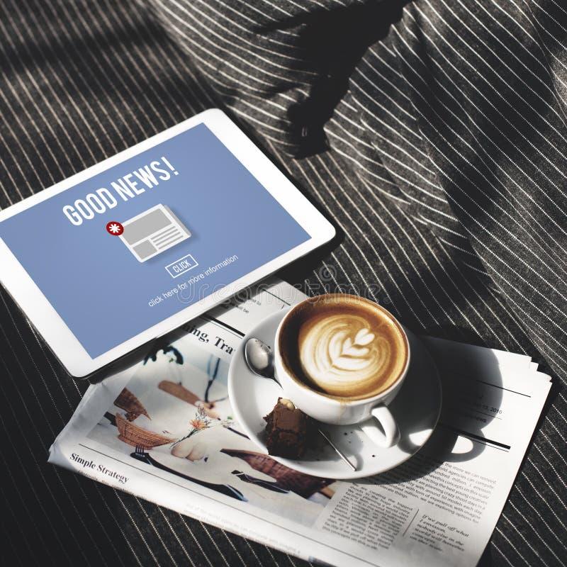 Van de het Bulletinaankondiging van het goederennieuws het Dagelijkse Concept stock foto