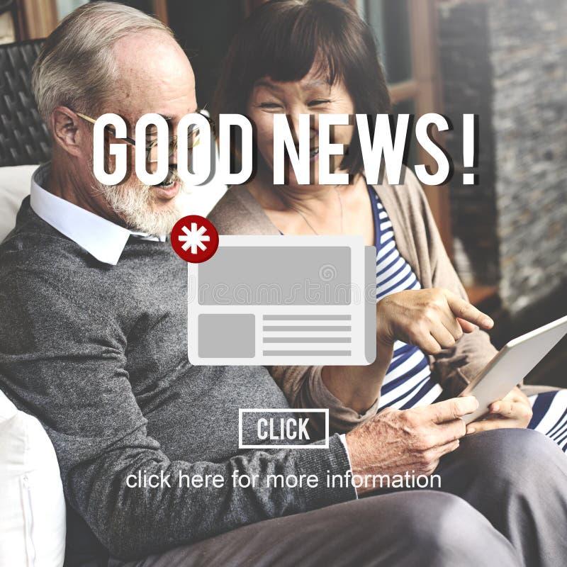 Van de het Bulletinaankondiging van het goederennieuws het Dagelijkse Concept royalty-vrije stock foto