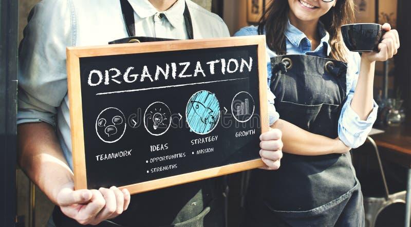 Van de het Businessplangroei van organisatie de Strategieconcept stock afbeeldingen