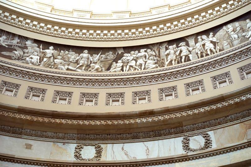 Van de het Capitoolkoepel van de V.S. het friessectie royalty-vrije stock afbeelding