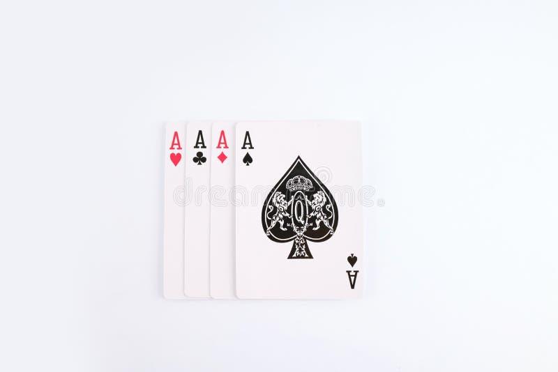 Van de het casinoflits van speelkaarten de koninklijke spades stock foto