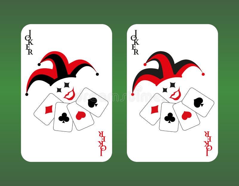 Van de het casinoflits van speelkaarten de koninklijke spades joker vector illustratie