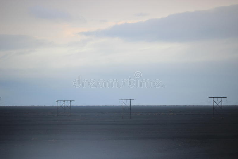 Van de het dessertvulkaan van IJsland het zanddraden stock foto