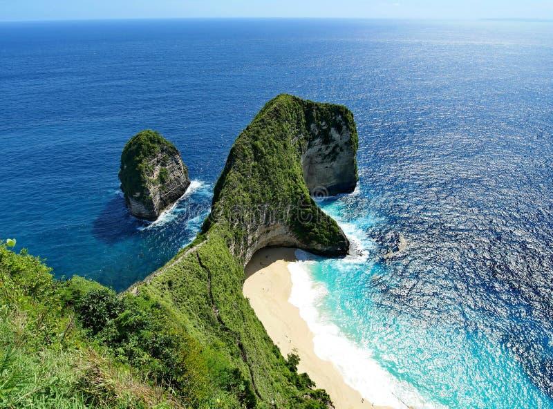 Van de het Eiland het aardige oceaanmening van Nusapenida aardige strand Bali royalty-vrije stock foto