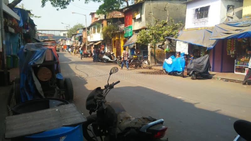 Van de het gebiedsjasmijn van de Dharavikrottenwijk de molenweg royalty-vrije stock foto