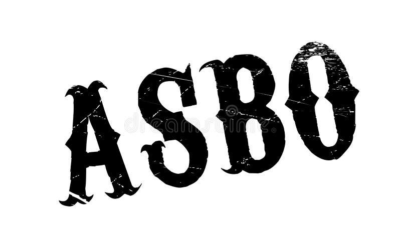Van de het Gedragsorde van ASBO de Asociale rubberzegel vector illustratie
