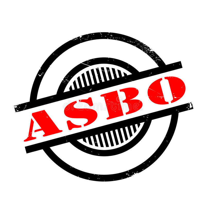 Van de het Gedragsorde van ASBO de Asociale rubberzegel stock illustratie