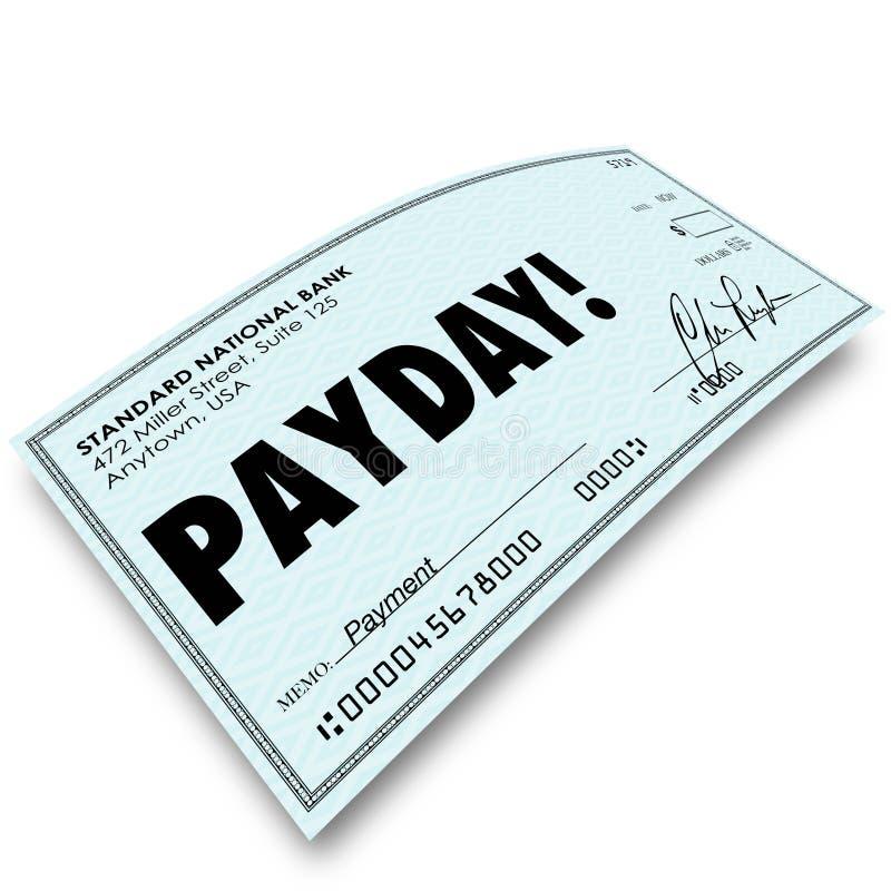 Van de het Geldbetaling van de betaaldagcontrole de Compensatie van het de Inkomenswerk royalty-vrije illustratie
