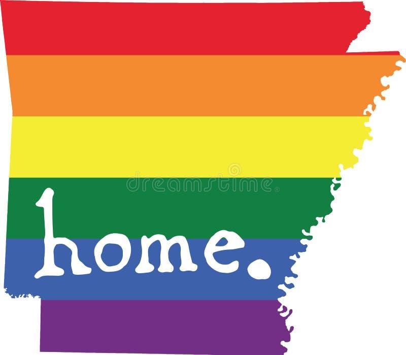 Van de het huis het vrolijke trots van Arkansas teken van de staat vector royalty-vrije illustratie