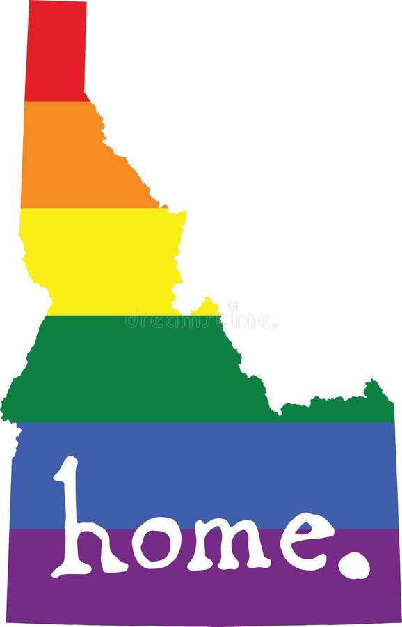 Van de het huis het vrolijke trots van Idaho teken van de staat vector royalty-vrije illustratie