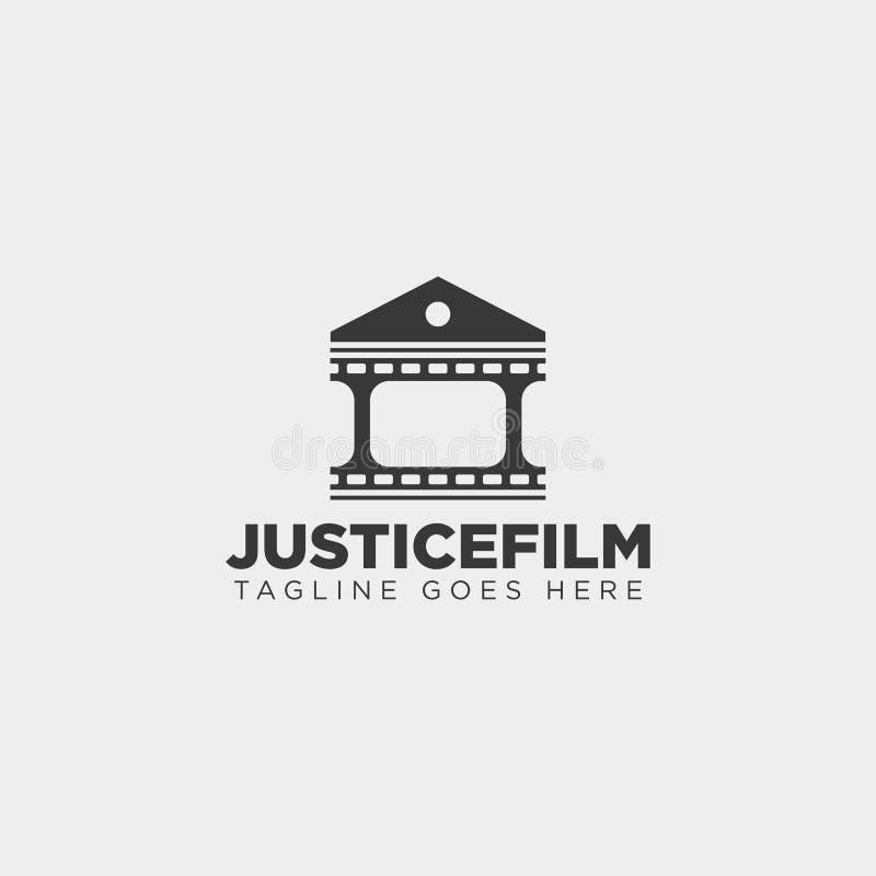 van de het huisfilm van de rechtvaardigheidsbioskoop van het het embleemmalplaatje het eenvoudige element van het de illustratiep vector illustratie