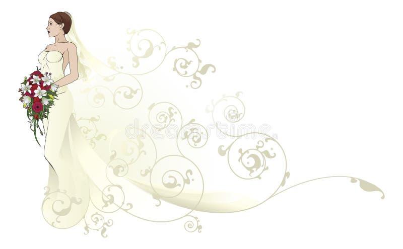 Van De Het Huwelijkskleding Van De Bruid Mooie Het Patroonachtergrond Stock Afbeelding