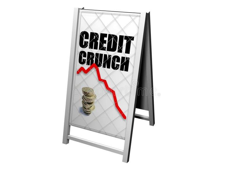 Van de het krakenkrant van het krediet de tribuneraad stock illustratie