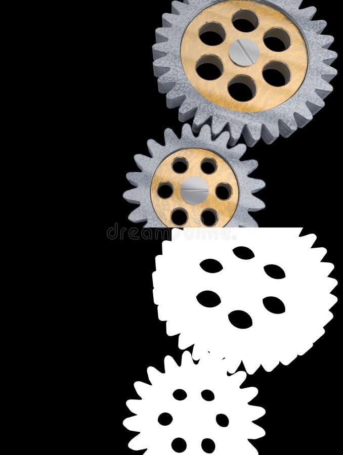 Van de het metaal mechanische machine van het toestel het alpha- kanaal transparante wiel van het de techniekstaal royalty-vrije illustratie