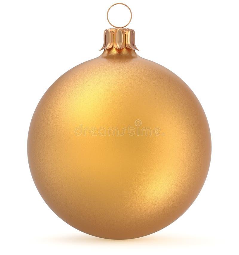 Van de het Nieuwjaar` s Vooravond van de Kerstmisbal gouden de decoratie hangende snuisterij stock illustratie