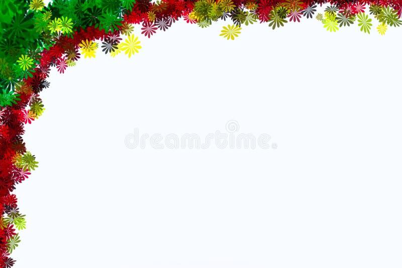 Van de het ontwerpgrens van de bloemillustratie het kaderachtergrond stock afbeelding
