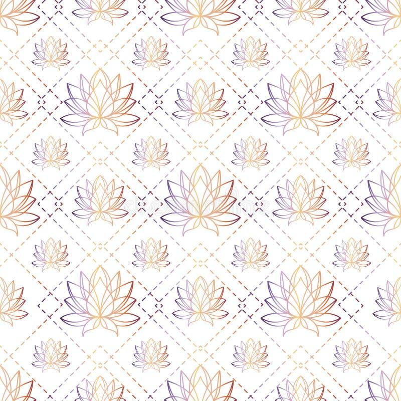 Van de het ontwerpkleur van de bloem de grafische illustratie naadloze achtergrond stock fotografie