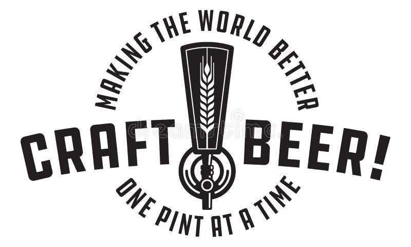 Van de het Ontwerpkraan van het ambachtbier het Vectorontwerp stock illustratie
