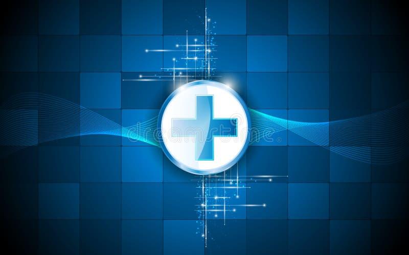 Van de het ontwerprechthoek van het gezondheidszorgembleem abstracte het patroonachtergrond vector illustratie