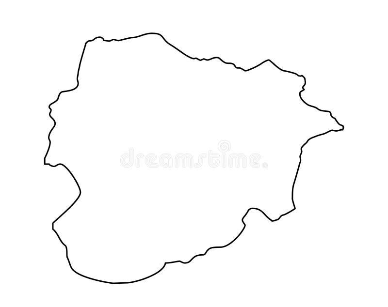 Van de het overzichtskaart van Andorra de vectorillustratie vector illustratie