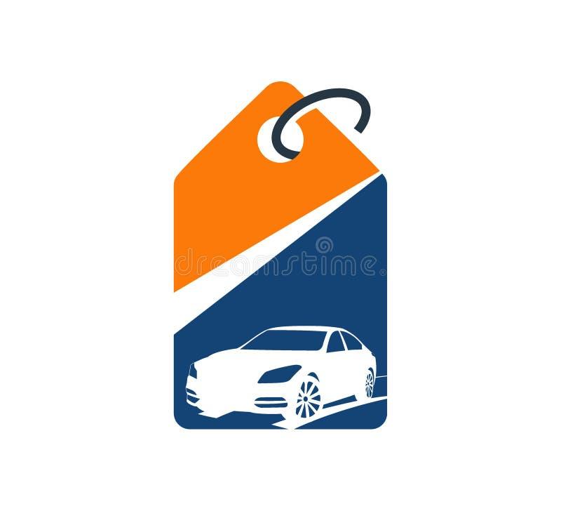 van de het pandwinkel van de autohandelaar automobiel van de het embleemmarkt vector het ontwerpillustratie royalty-vrije illustratie