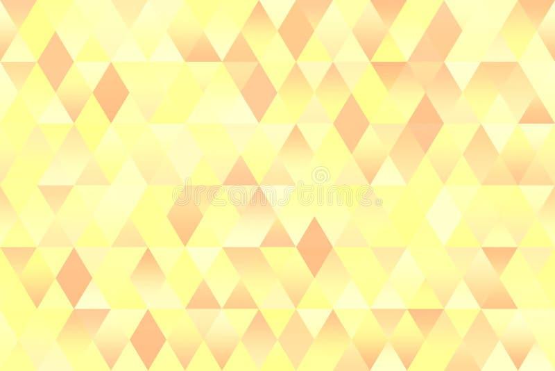 Van de het Patroon Naadloze Geometrische Lente van de pastelkleur Kleurrijke Driehoek de Ruit Lichtgele Roodbruine Textuur Als ac royalty-vrije illustratie