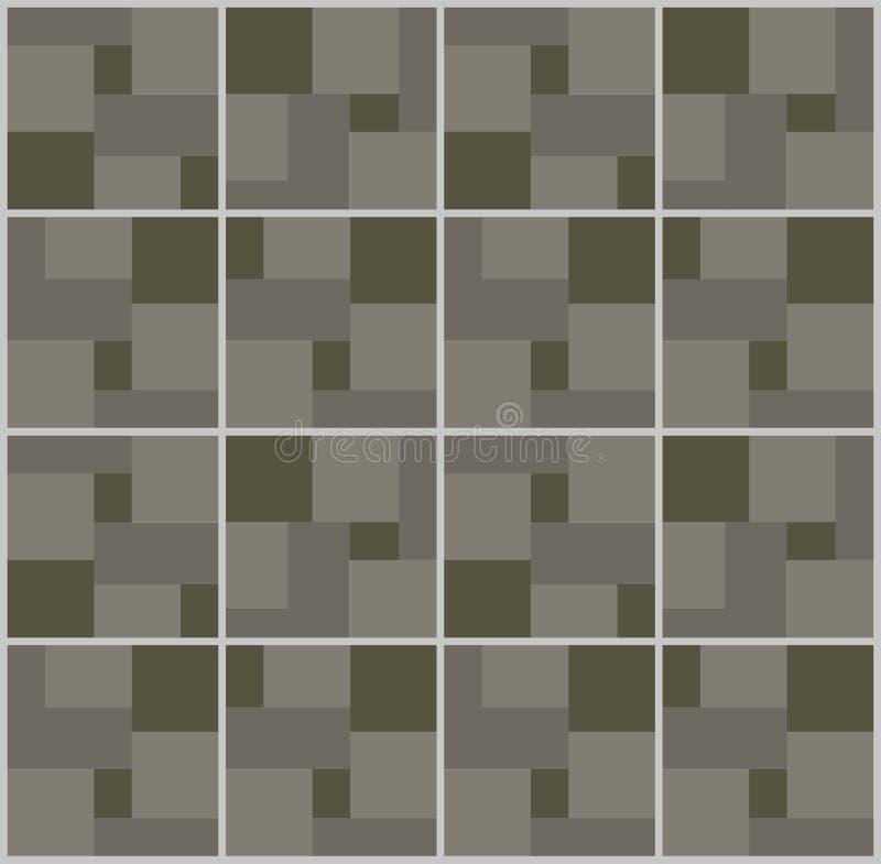 Van de het patroonkleur van de kunst abstracte meetkunde naadloze de textuur geometrische grafische vectorillustratie als achterg vector illustratie