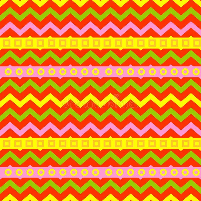 Van de het patroonkleur van de kunst abstracte meetkunde naadloze de textuur geometrische grafische vectorillustratie als achterg stock illustratie