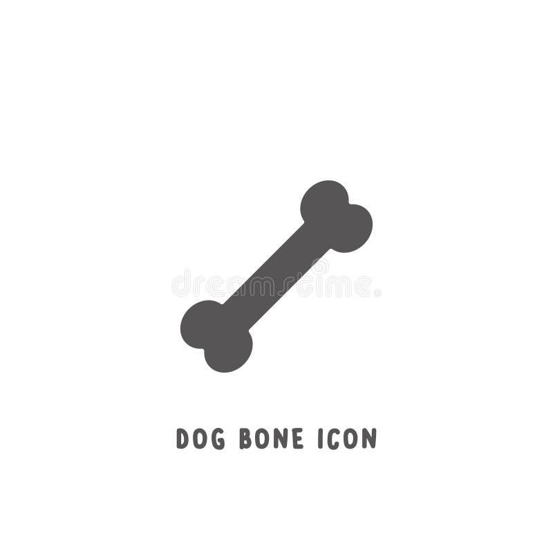Van de het pictogram de eenvoudige vlakke stijl van het hondbeen vectorillustratie royalty-vrije illustratie