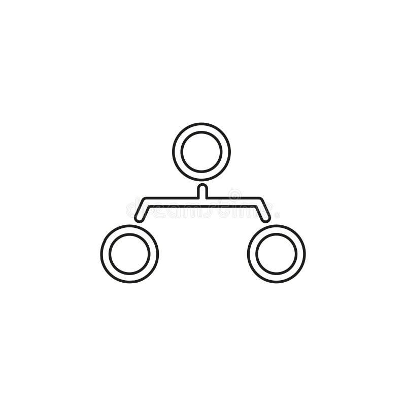 Van de het pictogramhi?rarchie van de organisatiegrafiek de structuurgrafiek royalty-vrije illustratie