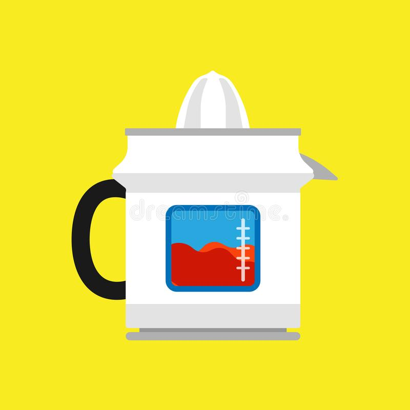 Van de het pictogramkeuken van het Juicerfruit vector het voedseltoestel Het kokende materiaal van de mixerdrank Het elektrische  royalty-vrije illustratie