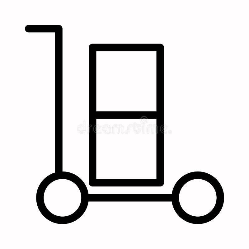 Van de het pictogramwinkel van het boodschappenwagentjepictogram vector, Vlak de karsymbool vector illustratie