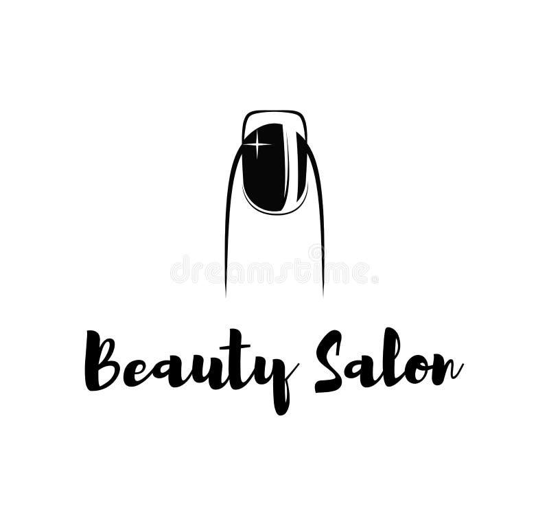 Van de het poetsmiddelvinger van de spijkerbar de nailbar salon van de de manicureschoonheid royalty-vrije illustratie
