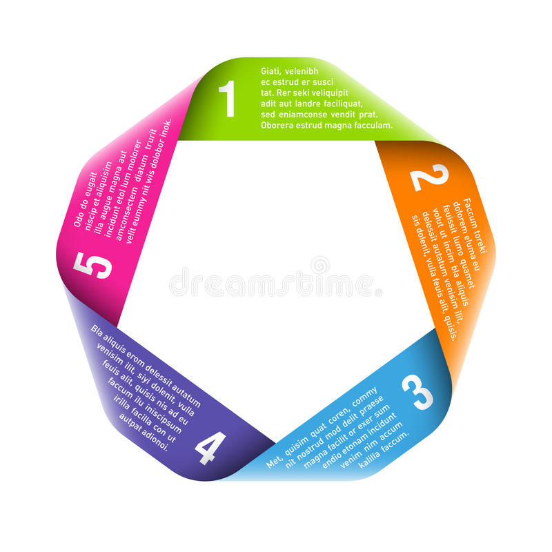 Van de het procescyclus van de origami het ontwerpelement royalty-vrije illustratie