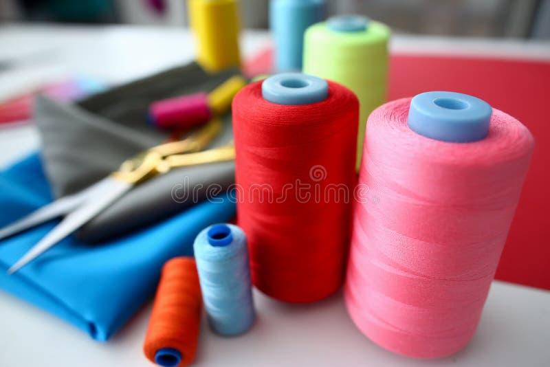 Van de het Proceskleermaker van het klerenontwerp de Vakman Equipment stock afbeeldingen