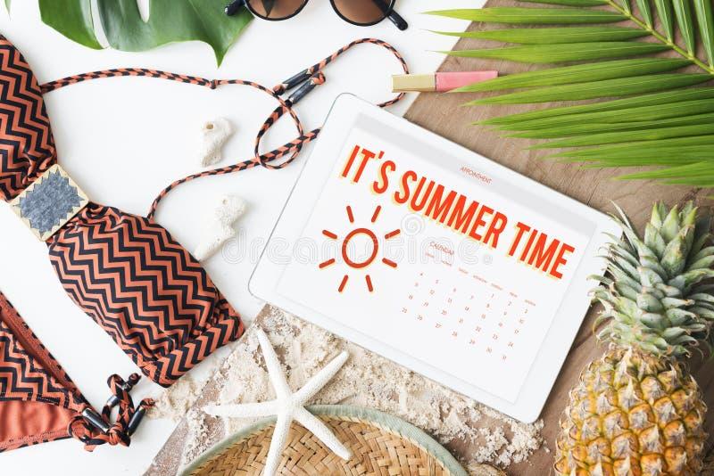 Van de het Programmapret van de de zomerkalender het Gelukconcept stock foto's