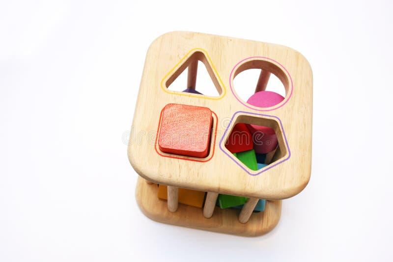 Van de het raadselvorm van de baby het blokstuk speelgoed royalty-vrije stock foto's
