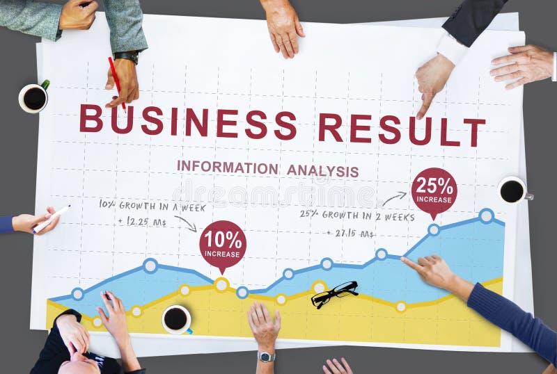 Van de het Rapportanalyse van de bedrijfsgegevensgroei de Prestatiesconcept royalty-vrije stock afbeelding