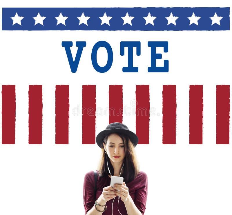 Van de het Referendumdemocratie van de politiekoverheid de Stemconcept stock foto's